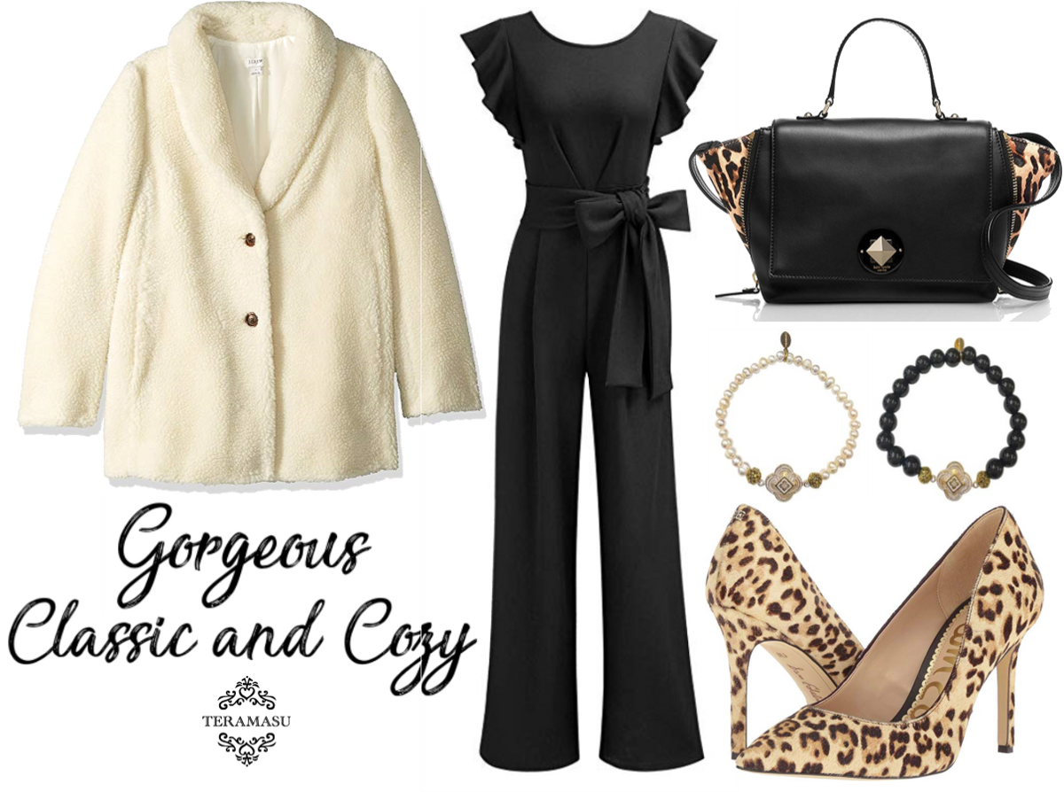 Living Ladylike: Gorgeous Classic and Cozy Black & White with Leopard Fall Outfit Inspiration for Your One of a Kind Style from Teramasu