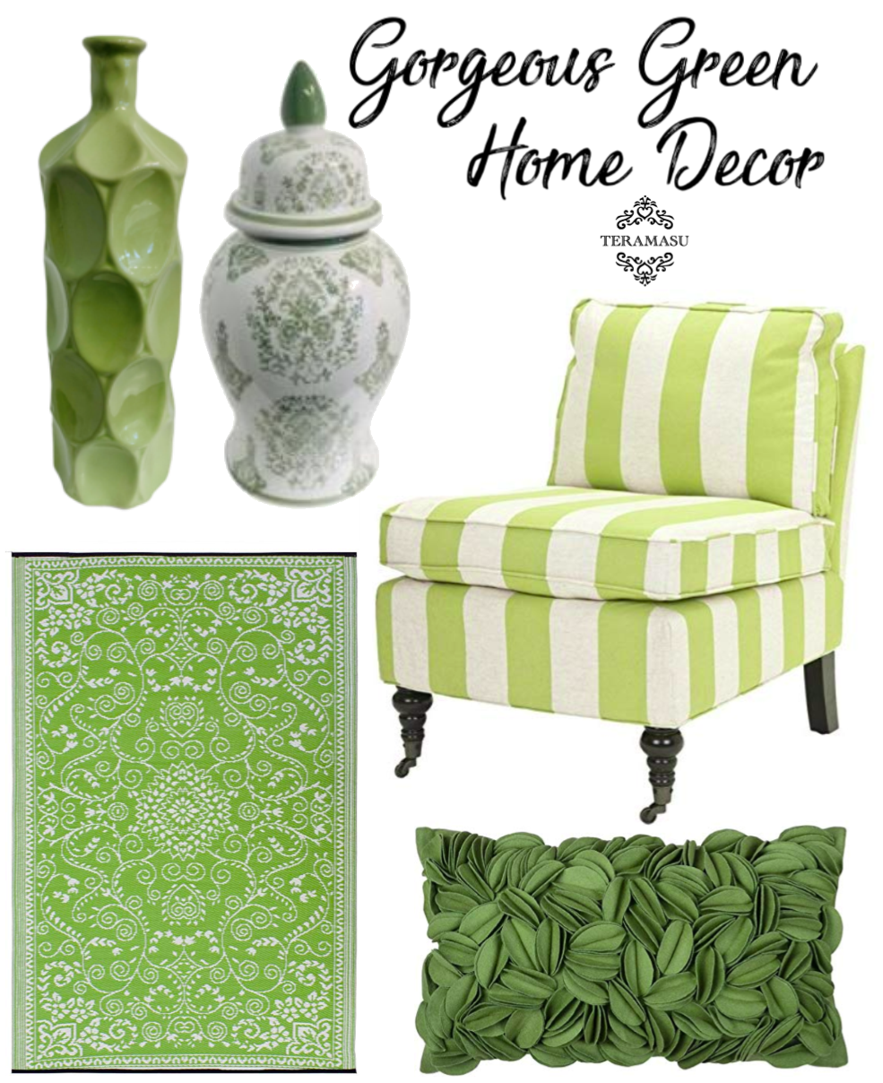Monday Must-Haves: Classic & Gorgeous Green and White Home Decor Lifestyle Inspiration from Teramasu