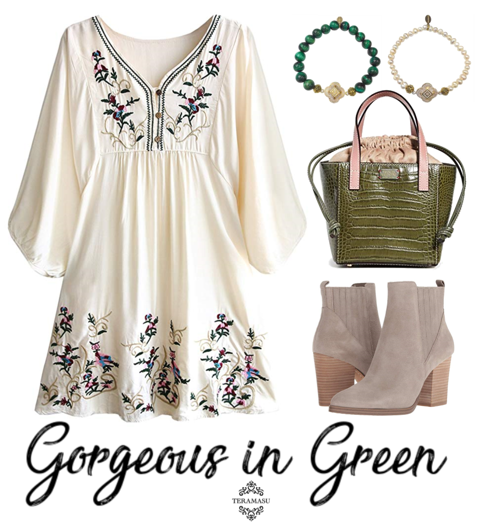 Fashion Friday: Gorgeous in Green Floral for Fall Outfit Inspiration from Teramasu