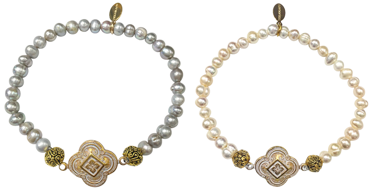 Living Ladylike: Be Fiercely Chic & Classic in our Teramasu Freshwater Pearl Gratitude Bracelet Collection