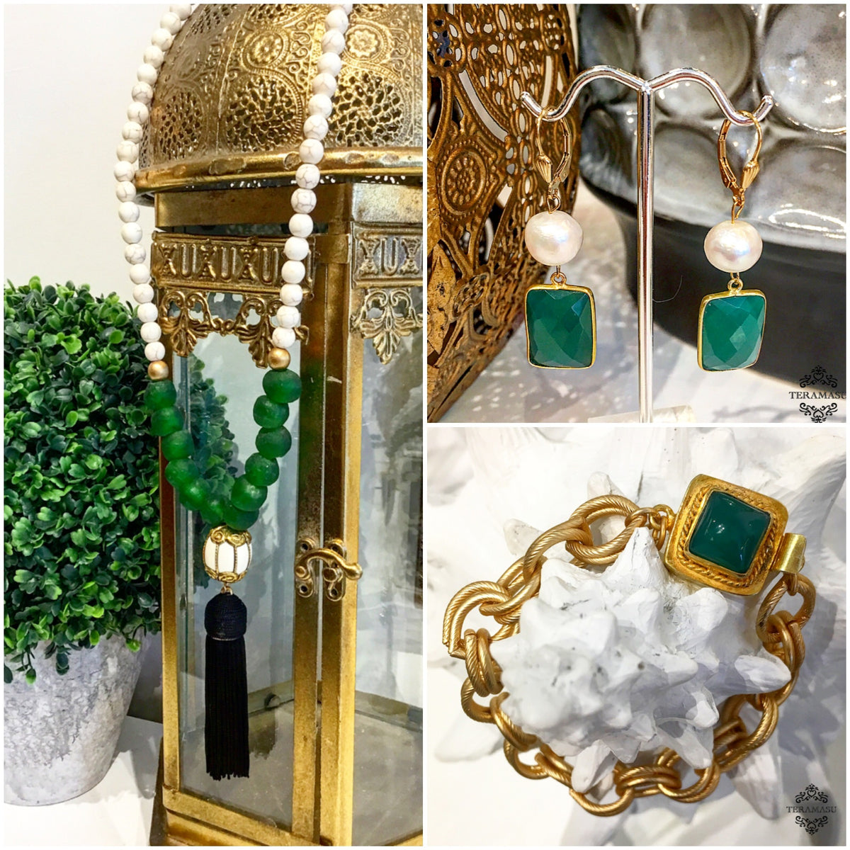 Living Ladylike: The Perfect Green Statement Jewelry Pieces for Your One-of-a-Kind Fall Style from Teramasu