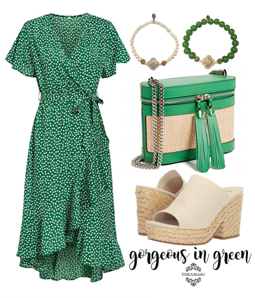 Chic Peek: Gorgeous in Green Outfit Inspiration from Teramasu
