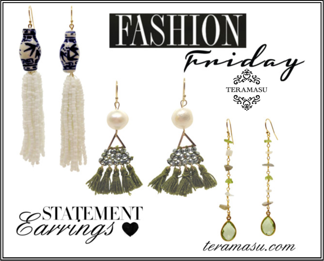 Fashion Friday: Handmade, One-of-a-Kind Statement Earrings from Teramasu