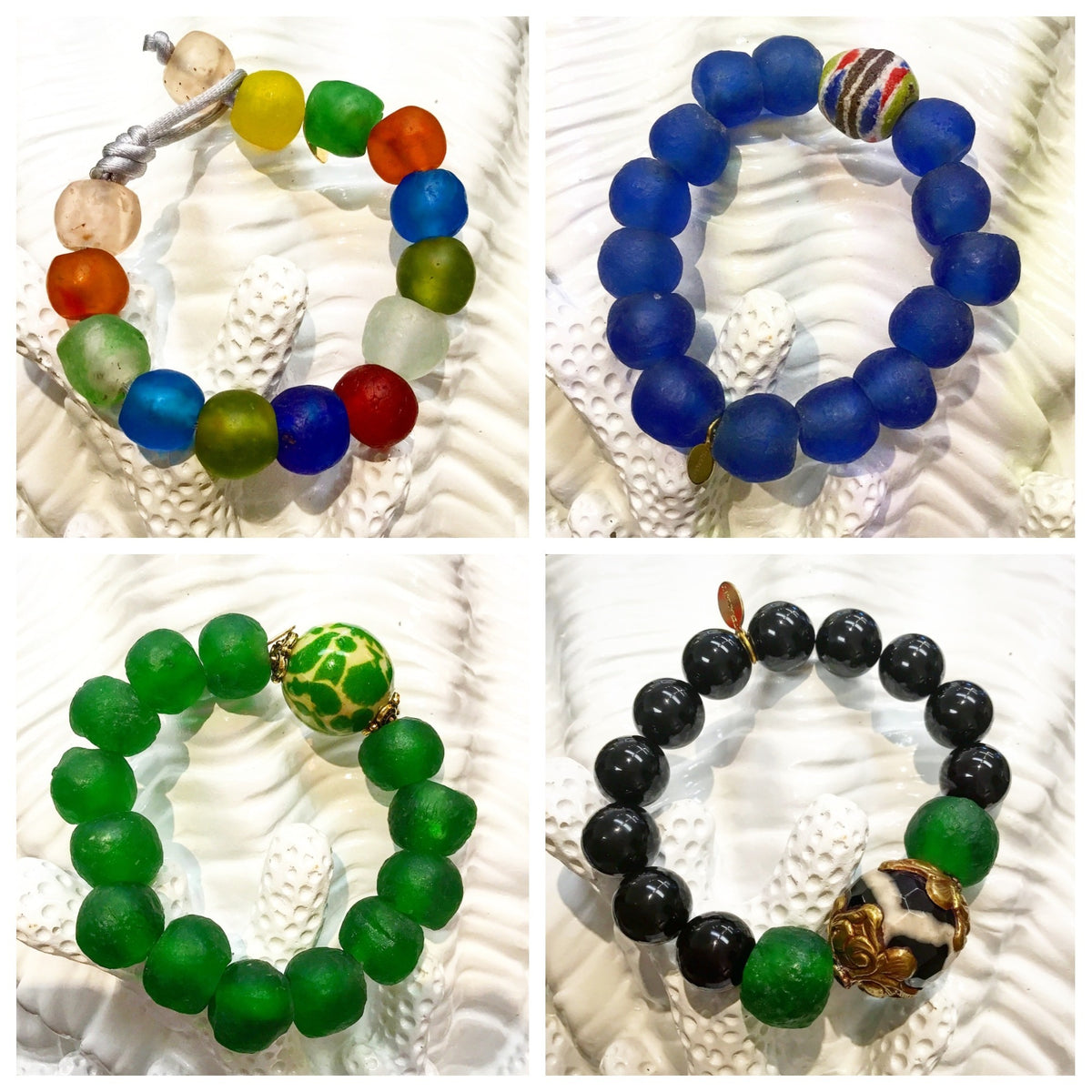"""Want It"" Wednesday: The Teramasu One-of-a-Kind Tumbled Glass Bracelet Collection"