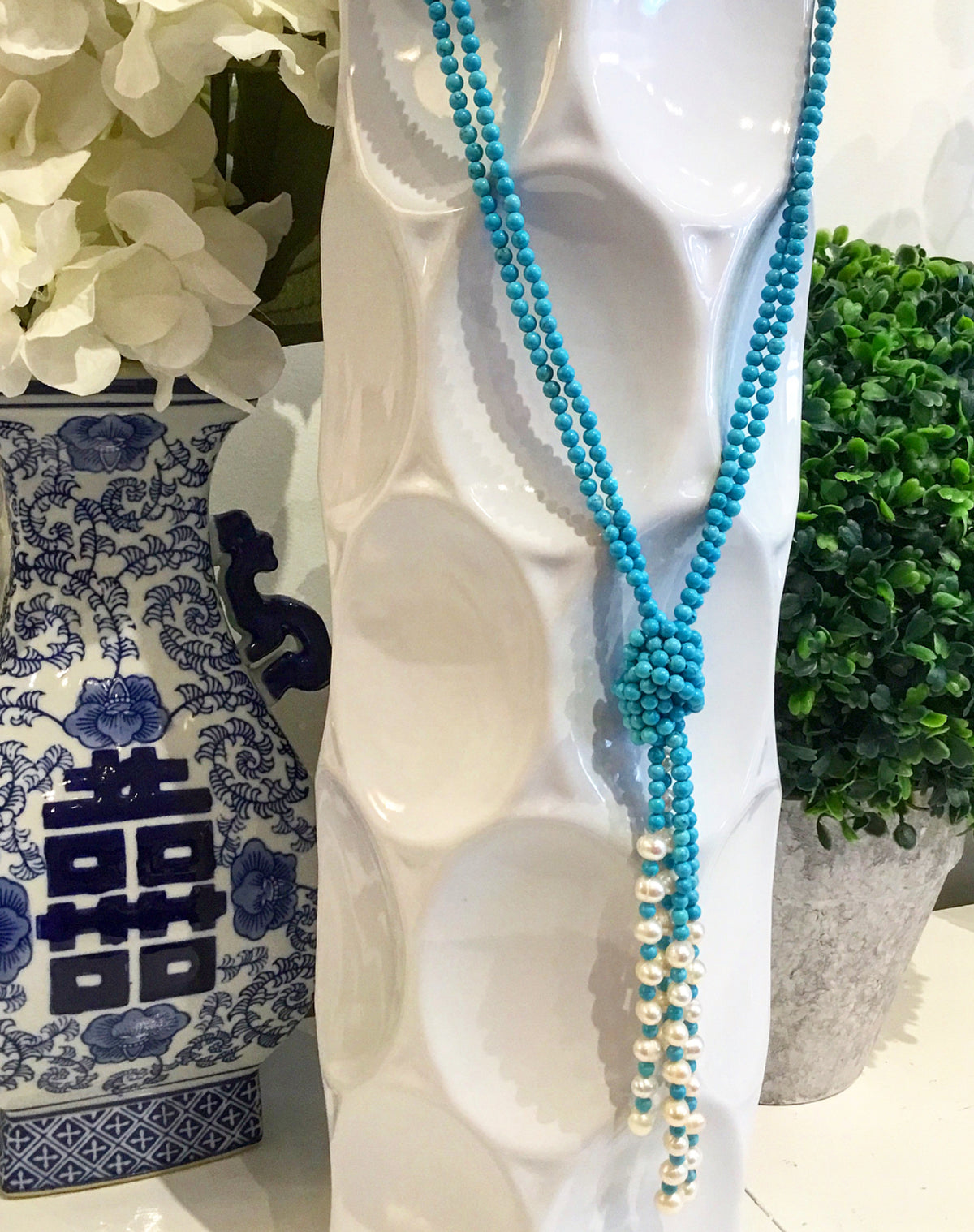 Monday Must-Have: The Perfect Classic Blue & White Necklace for Your One-of-a-Kind-Style