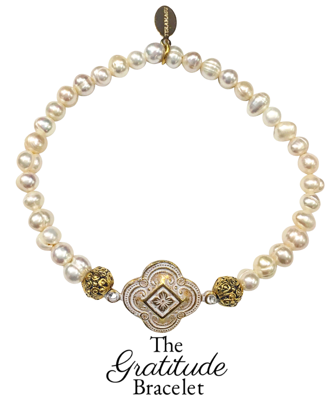 Friday Favorite: Gorgeous & New, Handmade Designer Teramasu Gratitude Bracelet in Pearl from the Teramasu Gratitude Collection