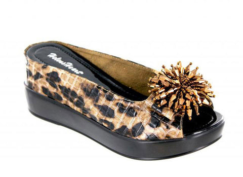 Leopard Shoes Open Peep Toe Wedge Helens Heart