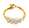 Teramasu Pearl on Satin Bracelet