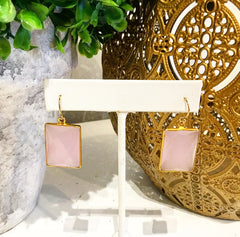 Teramasu Pink Chalcedony Earrings