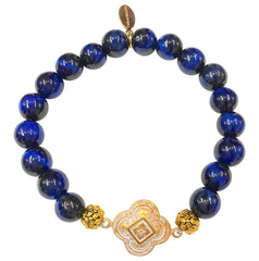 Teramasu Gratitude Bracelet in Navy Tiger Eye