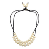 Teramasu Long and Short Pearl on Satin Necklace