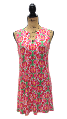 Teramasu Abstract Floral Print Sleeveless Sheath Dress