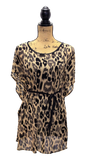 LEOPARD PRINT TIE FRONT TOP WITH LAYERING TANK