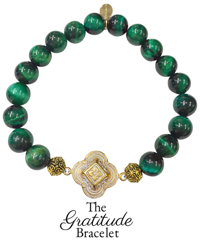 The Teramasu Gratitude Bracelet in Green Tigers Eye