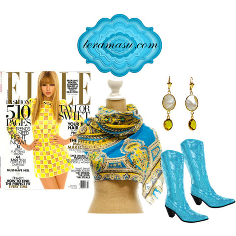 Turquoise Bling Boots Moonstone earrings Taylor Swift