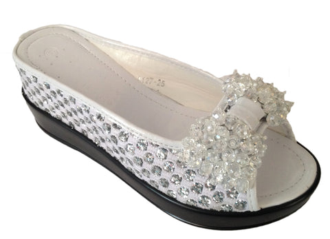 White Crystal Shoes Helens Heart