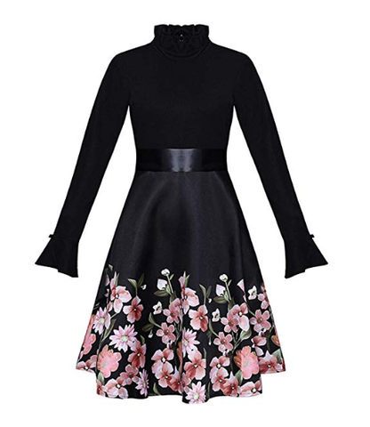 Little Black Dress with Floral