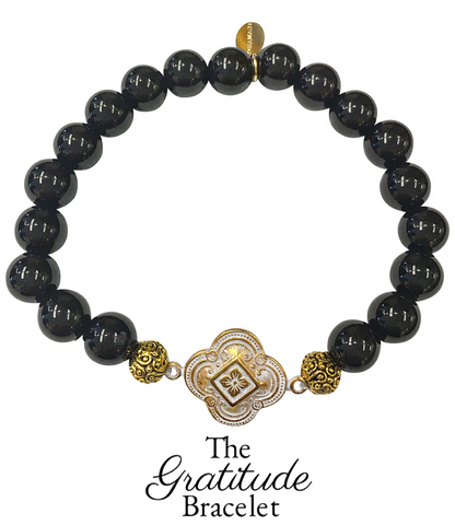 The Teramasu Gratitude Bracelet in Black Onyx