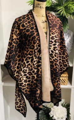 Wild About You Leopard Reversible Cape