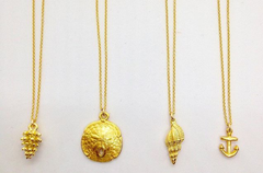 Teramasu 14k Gold Plated Charm Necklaces