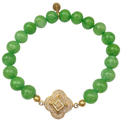 The Teramasu Gratitude Bracelet in Emerald Green Agate