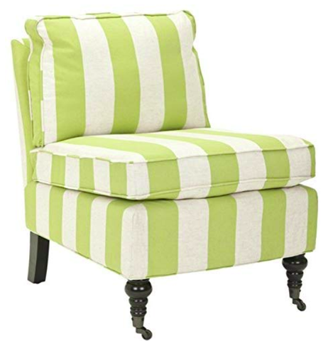 Green and White Chair