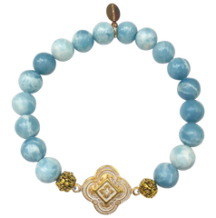 The Teramasu Gratitude Bracelet in Sky Blue Larimar