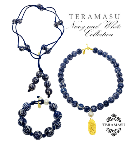 The Teramasu Navy and White Jewelry Collection