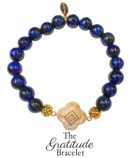 The Teramasu Gratitude Bracelet in Navy Blue Tigers Eye