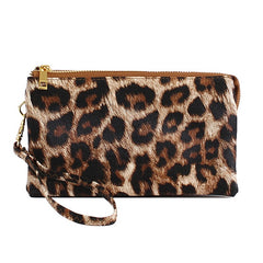 Teramasu Wallet Wristlet Clutch Crossbody in Leopard