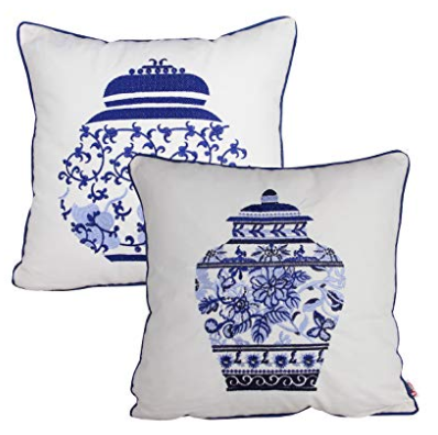 Blue and White Throw Pillows