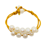 Teramasu Pearl on Gold Satin Bracelet