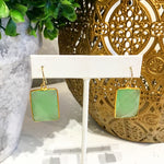 Teramasu Green Chalcedony Earrings