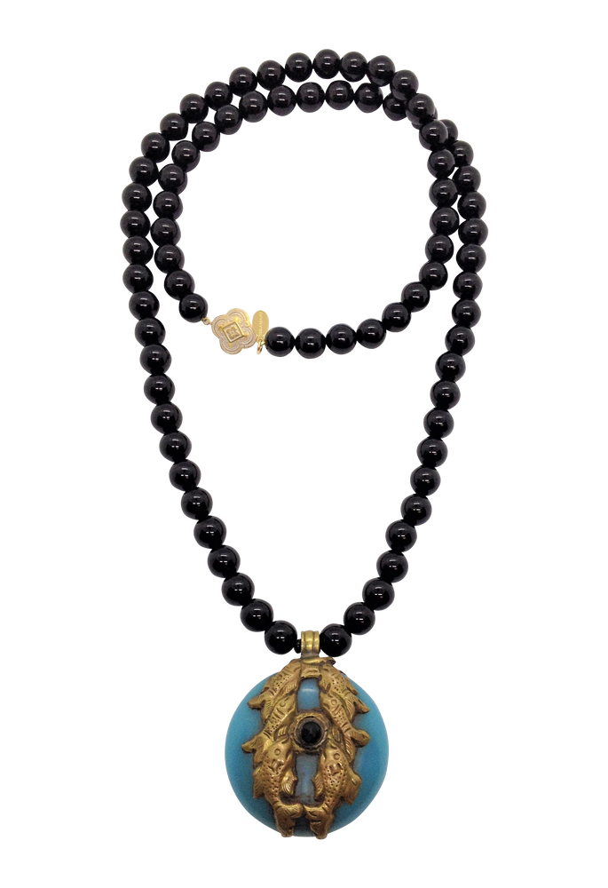 Teramasu Black Onyx with One of a Kind Pendant Necklace