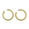 Gold Plated Push Back Hoop Fashion Earrings