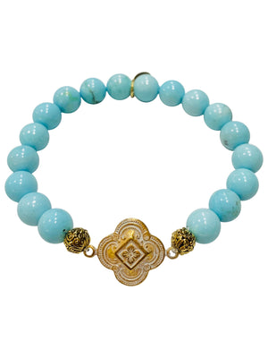 Gratitude Bracelet in Light Turquoise