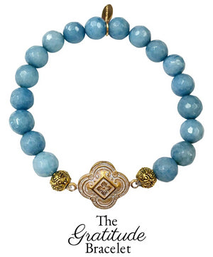 The Teramasu Gratitude Bracelet in Sky Blue Agate