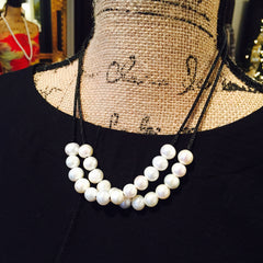 Double Pearl Choker Necklace - The Perfect Anniversary or Birthday Gift