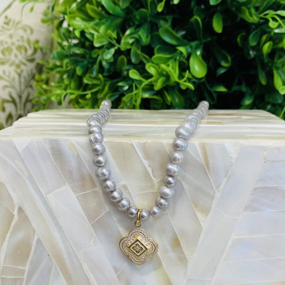 Teramasu Grey Pearl Gratitude Necklace