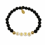 All You Need Is Love Bracelet Black Onyx 14K Gold Filled