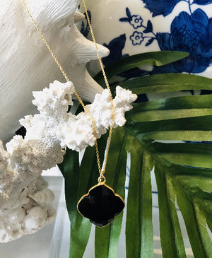 Teramasu Finder of Hope Black Onyx Clover From The Coastal Collection of Teramasu