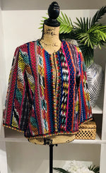 Funky Multicolor Woven Jacket