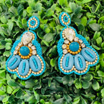 Teramasu Turquoise Beaded Earrings
