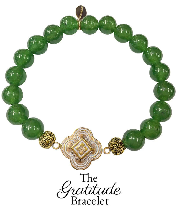 The Teramasu Gratitude Bracelet in Green Jade