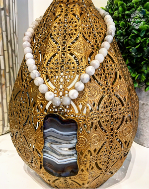 Teramasu Moonstone and One of a Kind Stone Pendant Necklace
