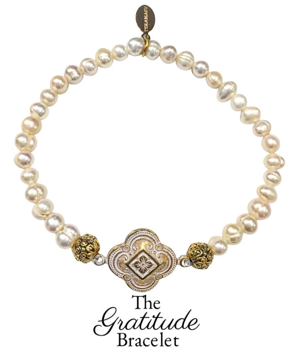 The Teramasu Gratitude Bracelet in Pearl