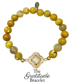 The Teramasu Gratitude Bracelet in Yellow Agate