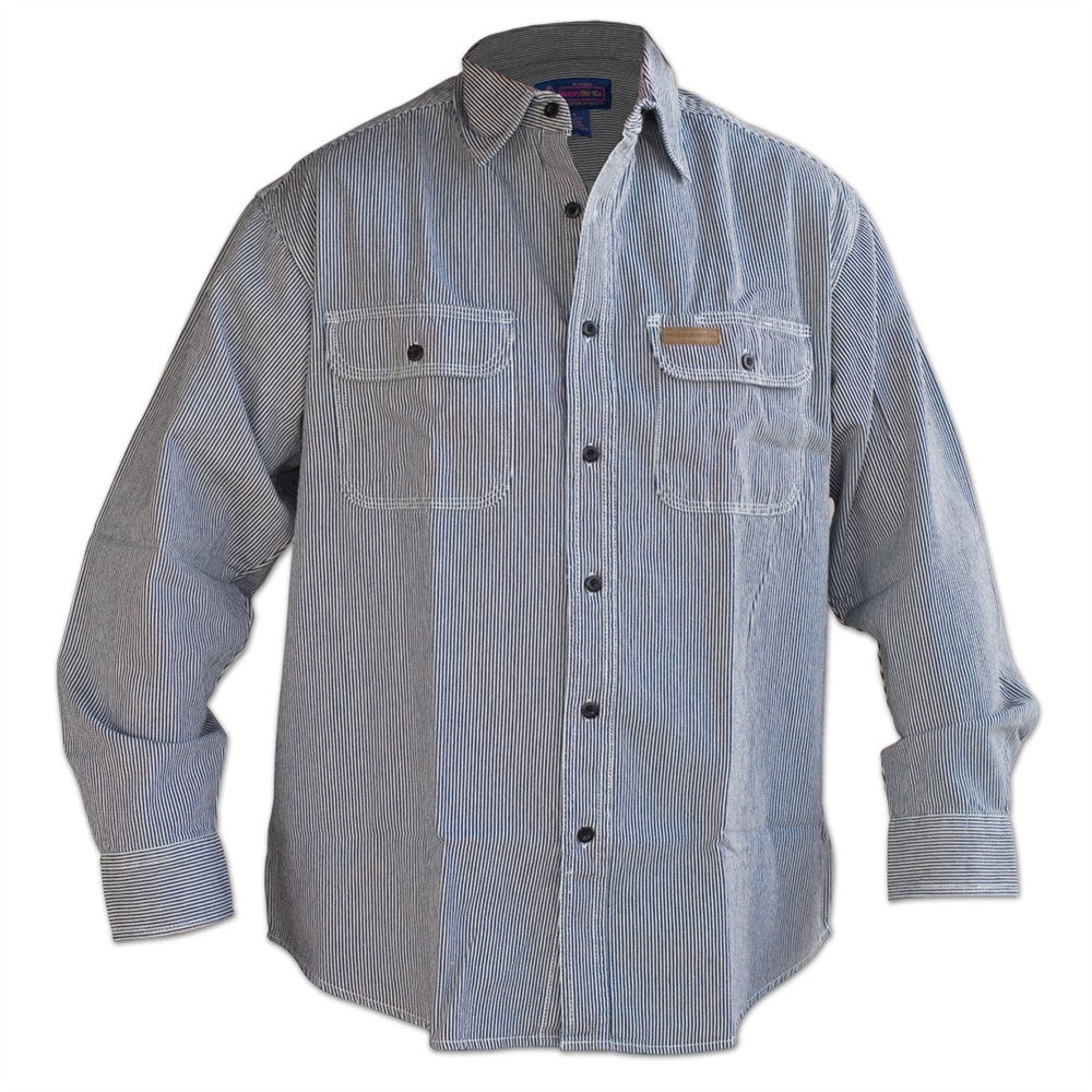 Hickory Stripe Button Shirt - Formerly Five Brothers