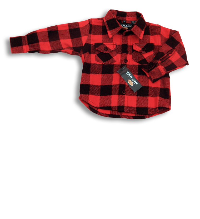 Child's Buffalo Plaid Shirt, Red