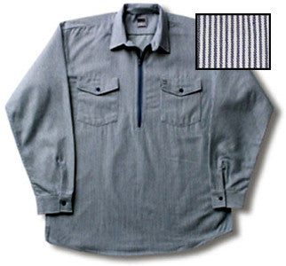 Hickory Shirt navy and gray zip